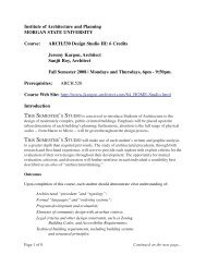 Course Syllabus and Outline - J. Kargon