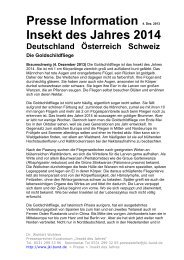 Presse Information 4. Dez. 2013: Insekt des Jahres 2014 - Bund.de