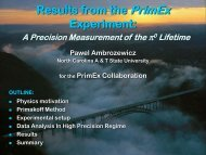 Results from the PrimEx Experiment: - Jefferson Lab