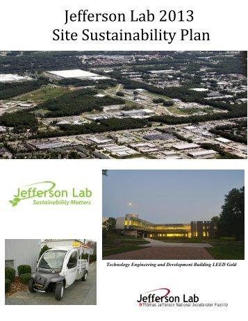 Jefferson Lab 2013 Site Sustainability Plan
