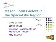 Meson Form Factors - Jefferson Lab