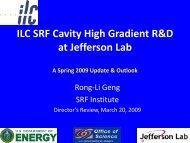 Rongli Geng - Jefferson Lab