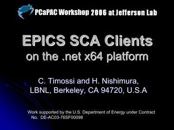 EPICS SCA Clients