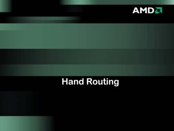 Hand Routing