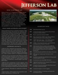 JLab Fact Sheet - Jefferson Lab