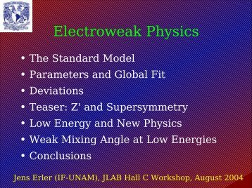 Electroweak Physics