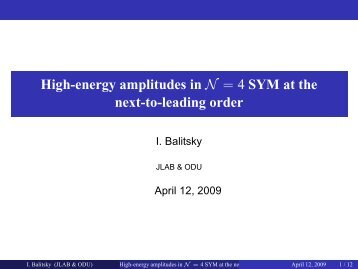 High-energy amplitudes in N=4 SYM at the next-to-leading order