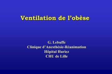 La ventilation de l'obèse - JLAR