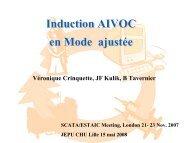 AIVOC en mode ajusté - JLAR