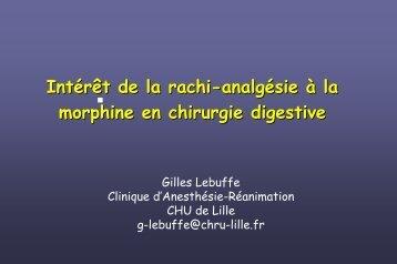 Intérêt de la rachi-analgésie à la morphine en chirurgie ... - JLAR