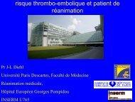 risque thrombo-embolique et patient de réanimation - JLAR