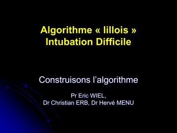 Les algorithmes lillois Eric WIEL - JLAR