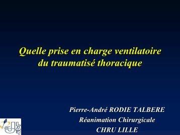 Quelle prise en charge ventilatoire du traumatiséé thoracique - JLAR