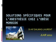 Solutions spécifiques pour l'anesthésie chez l'obèse morbide - JLAR