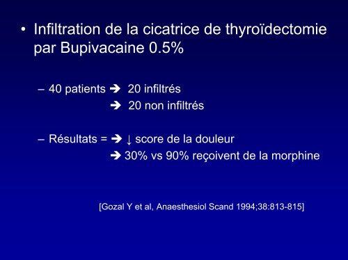 bloc du plexus cervical superficiel pour chirurgie thyroidienne - JLAR