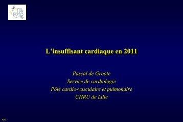 L'insuffisant cardiaque en 2011 Pascal DEGROOTE (Lille) - JLAR