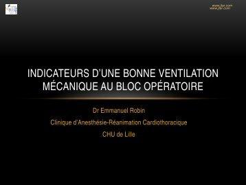 Indicateurs d'une bonne ventilation en anesthésie - JLAR