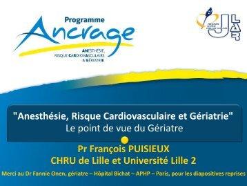 """Anesthésie, Risque Cardiovasculaire et Gériatrie"""" Le point ... - JLAR"""
