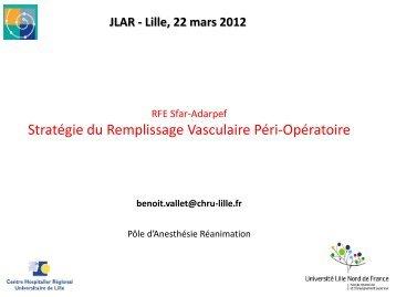 Remplissage vasculaire périopératoire - JLAR