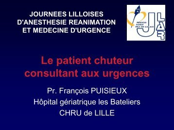 Le patient chuteur consultant aux urgences - JLAR
