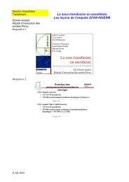 Le risque de la non transfusion - JLAR