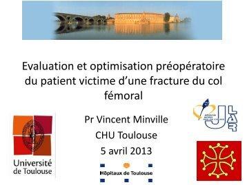 Optimisation préopératoire Vincent MINVILLE (Toulouse) - JLAR