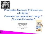 Principales menaces épidémiques à l'hôpital : Comment les ... - JLAR