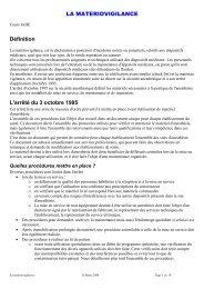 materiovigilance et check list poly 2007 - JLAR