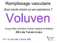 Remplissage vasculaire - JLAR