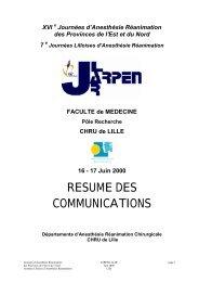 Le livret des communications - JLAR
