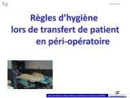 Règles d'hygiène à respecter lors de transfert de patient en ... - JLAR