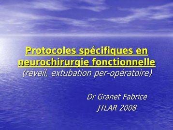Protocoles spécifiques en neurochirurgie fonctionnelle - JLAR