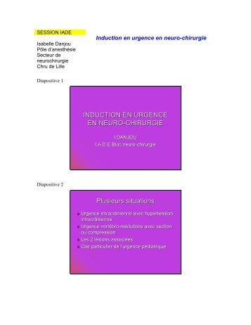 L'induction en urgence pour un bloc neurochirurgical - JLAR
