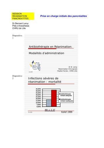 Modalités d'administration des antibiotiques - JLAR