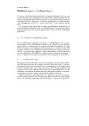 Multilingual Aspects of Monolingual Corpora - JLCL