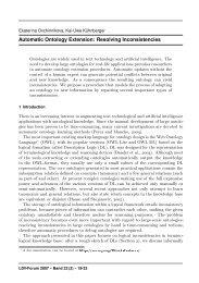 Automatic Ontology Extension: Resolving Inconsistencies - JLCL