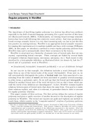 Regular polysemy in WordNet (full paper) - Proxem