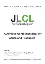 Automatic Genre Identification: Issues and Prospects - JLCL