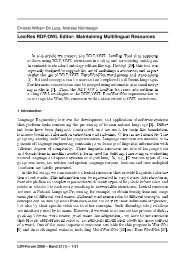 LexiRes RDF/OWL Editor: Maintaining Multilingual ... - ResearchGate