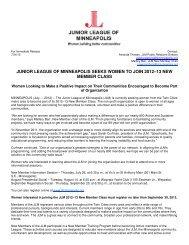 JLM is looking for New Members! - Junior League of Minneapolis