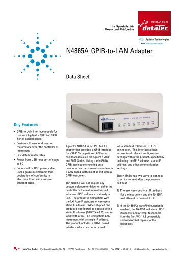 (PDF) 1043 KB - datatec Gmbh