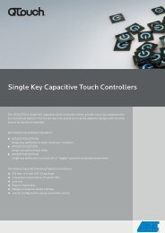 Single Key Capacitive Touch Controllers - Atmel Corporation