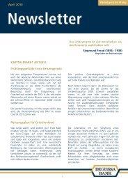 April 2010 KAPITALMARKT AKTUELL ... - bei der Degussa Bank