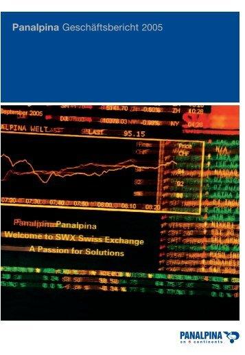 Panalpina Geschäftsbericht 2005