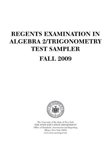 regents examination in geometry test sampler fall 2008 - JMap