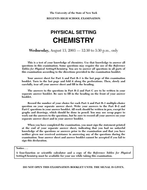 physical setting chemistry - JMap