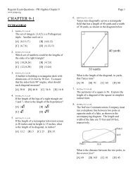 Chapter 9: Graphing Linear Functions and Relations Section 9-6