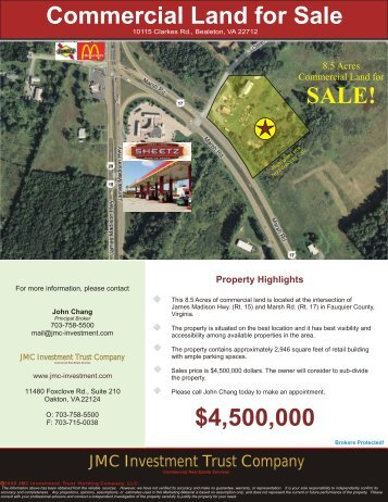 8.5 Acres Commercial Land - Fauquier County, VA - JMC Investment ...
