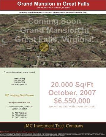 1028 Towlston Rd. Great Falls, VA 22066 - JMC Investment Trust ...