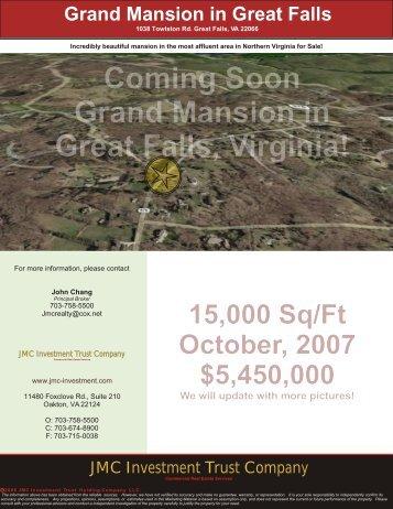 1038 Towlston Rd. Great Falls, VA 22066 - JMC Investment Trust ...